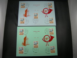 """BELG.1981 2008 FDC Echophil Cards N°049 & 050 : """" Journée Du Timbre / Dag Van De Postzegel """" - 1981-90"""
