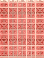 FEUILLE DE 100 TIMBRES  DEUTSCHE POST 12 PFENNIG - FDC: Feuilles