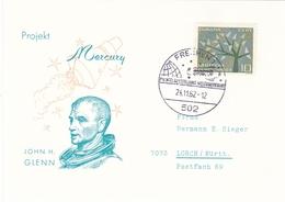 Germany 1962 Project Mercury John H Glenn Postcard - [7] Federal Republic