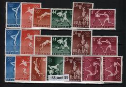 1956   Olympic Games Melbourne  6v.-MNH (**) X 4 Set Bulgaria / Bulgarie - 1945-59 République Populaire