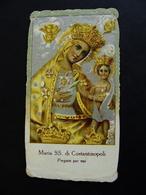 MARIA  SS. DI COSTANTINOPOLI    ORIGINAL VINTAGE IMAGE PIEUSES   SANTINO HOLY CARD - Devotion Images
