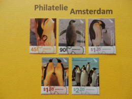 Ross Dep. 2004, FAUNA BIRDS OISEAUX VOGELS VÖGEL: Mi 89-93, ** - Pingueinos