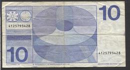 NETHERLANDS 10 GULDEN 1968  - See The 2 Scans For Condition.(Originalscan ) - [2] 1815-… : Koninkrijk Der Verenigde Nederlanden
