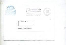 Lettre Flamme  Port Paye Wittenheim Don Organe - Postmark Collection (Covers)