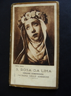 SANTA ROSA DE LIMA - HOLY CARD    SANTINO HOLY CARD - Devotion Images