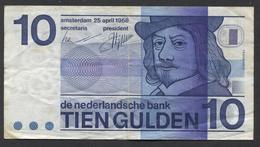 NETHERLANDS 10 GULDEN 1968  - See The 2 Scans For Condition.(Originalscan ) - [2] 1815-… : Kingdom Of The Netherlands