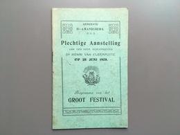 SINT-AMANDSBERG - Aanstelling Burgemeester Van Cleemputte - Programma - 1908 - Gent