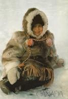Canada Fille Inuit à Caribou Parka (2 Scans) - Canada