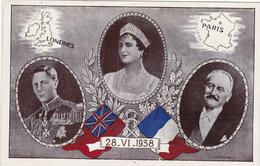 CPA - Carte Souvenir Londres - Paris  -  1938 - Cachet Air France - Souvenir De...