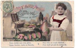 FEMME 820 : Clairette Angot Marchande De Marée , 1er Avril , Poissons Venez Choisir Carpe Brochet Truite Ou Limande - Femmes