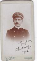 """PHOTO  DU MARIN """"  GUYTOU """"  A  CHERBOURG      1908 ,,,, PHOTO  VICMAS    CHERBOURG , 4,5 X 8 Cm - Bateaux"""