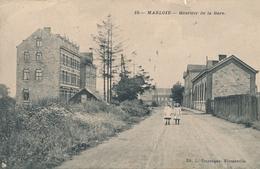CPA - Belgique - Marche-en-Famenne - Marloie - Quartier De La Gare - Marche-en-Famenne