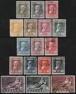 ~~~ Spanje Spain 1930 - Goya - Mi. 464/480 (o) - Cat 40.00 Euro ~~~ - 1889-1931 Koninkrijk: Alfonso XIII