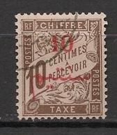 Maroc - 1911 - Taxe TT N°Yv. 11 - 10c Sur 10c Brun - Oblitéré / Used - Segnatasse