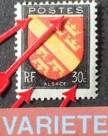 R1949/647 - 1946 - BLASON DE L'ALSACE - N°756 NEUF* - VARIETE ➤➤➤ Décalage Du Rouge Vers Le Bas + Signatures Absentes - Varieties: 1945-49 Mint/hinged