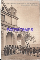 111853 BOLIVIA FRANCISCAINES MISSIONARIES THE INSEGNAMENT OF THIS MUSIC POSTAL POSTCARD - Bolivia