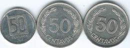 Ecuador - 50 Centavos - 1963 (KM81) 1985 (KM87) & 1988 (KM90) - Ecuador