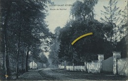 Court-Saint-Etienne :  Route De Noirhat   ( Ecrit 1908 Avec Timbre -    Carte  SBP  ) - Court-Saint-Etienne