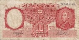 ARGENTINE 10 PESOS ND1954-63 VG+ P 270 - Argentina
