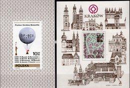 Architektur Krakau 1982 Polska Blocks 85+90 ** 4€ Krakow Ballon 1981 Hoja Blocs Art Ss Architectur Sheets Bf Poland - Blocs & Feuillets