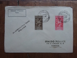 REGNO - Marcofilia - Milano - Giornata Filatelica 1942 + Spese Postali - Storia Postale