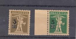 Suisse - N° YT 239**& 240** - Année 1930 - Walter Tell - Surchargés - Nuovi