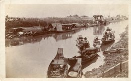 ASIA (?) - Untitled But Well Animated River Scene - Good Ethnic - Postcards