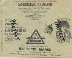 Old Envelope With Publicité 1930: Cigares Cadena Et Antonio ANVERS // Sandalette RED STAR / Assurance Anvers ALEX BEHR - Briefe
