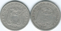 Ecuador - 1 Sucre - 1937 (KM78.1) & 1946 (KM78.2) - Ecuador