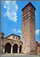 °°° Cartolina N. 10 Rieti Atrio Della Cattedrale E Torre Campanaria Viaggiata °°° - Rieti