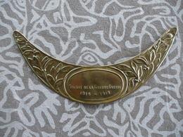 WW1 PLAQUE  DE CASQUE ADRIAN POILU / SOLDAT DE LA GRANDE GUERRE - Casques & Coiffures