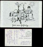 P0884 - DR Postkarte Militär Humor , Spähtrupp: Gebraucht Iserlohn - Gelsenkirchen 1942, Bedarfserhaltung. - Briefe U. Dokumente