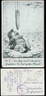 P0883 - DR Postkarte Militär Humor , Bombe Auf England: Gebraucht Iserlohn - Gelsenkirchen 1942, Bedarfserhaltung. - Briefe U. Dokumente
