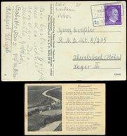 P0880 - DR Postkarte Lied Rosemarie: Gebraucht Bahnpost Lohr Wertheim - RAD Lager 8/ 285 Oberelsbach , Bedarfserhaltung. - Allemagne