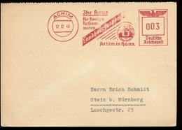 P0874 - DR Postkarte Landhaus Jungborn: Gebraucht Mit Freistempel Achim - Stein 1940 , Bedarfserhaltung. - Briefe U. Dokumente