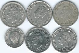 Ecuador - 1 Sucre - 1959 (KM78a) 1964 (KM78b) 1974 (KM83) 1985 (KM85.1) 1986 (KM85.2) & 1988 (KM89) - Ecuador
