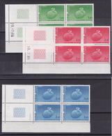 FRANCE/ SERVICE N° 85/86/87  BLOC DE QUATRE COIN DATE NEUF SANS CHARNIERE COTE 31 EURO - Officials