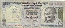 INDE 500 RUPEES VG+ - Inde