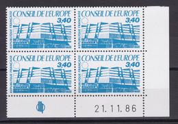 FRANCE/ SERVICE N° 95  BLOC DE QUATRE COIN DATE NEUF SANS CHARNIERE COTE 17 EURO - Officials