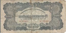 HONGRIE 20 PENGO 1944 VG+ RED ARMY - Hongrie