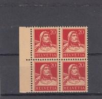 Suisse - N° YT 203** - Année 1924/27 - Bloc De 4 - Svizzera