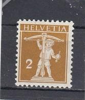 Suisse - N° YT 134** - Année 1910 - Corde Derrière Le Fût - Svizzera
