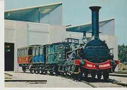 C.P. - PHOTO - TRAIN DE L'EPOQUE SECOND EMPIRE - L. PILLOUX - MUSÉE FRANÇAIS DU CHEMIN DE FER - MULHOUSE - PARIS A STRAS - Trains