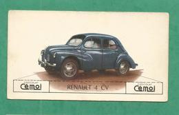 IMAGE CHOCOLAT CEMOI AUTO VOITURE VINTAGE WAGEN OLD CAR CARD RENAULT 4 CV - Chocolat