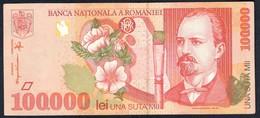 Romania - 100000 Lei 1998 P110 - Romania