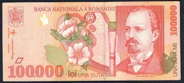 Romania - 100000 Lei 1998 P110 - Rumania
