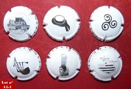 Lot 6 Muselets Thème Bretagne  (parfait état - Pas De Trace De Décapsuleur) Lot N° 44-1 - Capsules & Plaques De Muselet