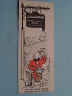 GALIGNANI Rue De Rivoli 224 PARIS > Bookshop ( Voir / Zie Foto's ) ! - Marque-Pages