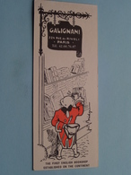 GALIGNANI Rue De Rivoli 224 PARIS > Bookshop ( Voir / Zie Foto's ) ! - Segnalibri
