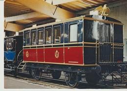 C.P. - PHOTO - VOITURE SALON DES AIDES DE CAMP - TRAIN IMPERIAL P.O. - 1856 - MUSÉE FRANÇAIS DU CHEMIN DE FER - MULHOUSE - Trains